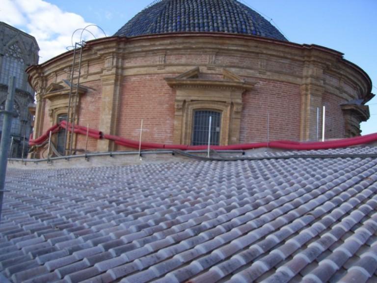 Valencia's Basílica de la Virgen roof rehabilitation