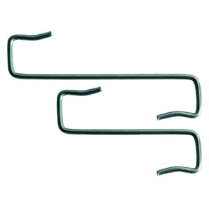 Curved roof tile fixing clip