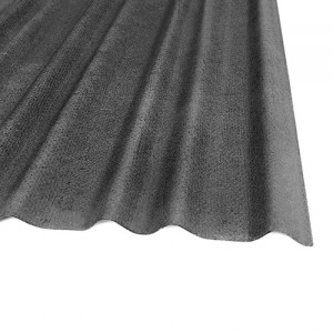 Bitumen sheet for curved tiles