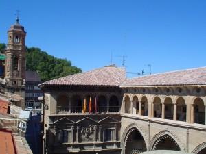 Alcañiz Conseil municipal et Lavoir du la Fontaine Santamaría