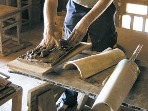 Las tejas hechas a mano