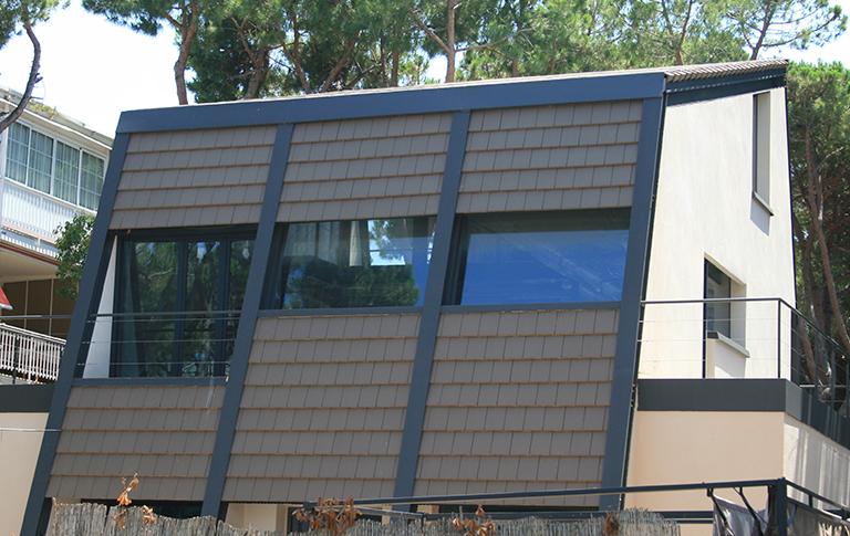Unifamiliar con tejas Flat 12 Marrón Asturias