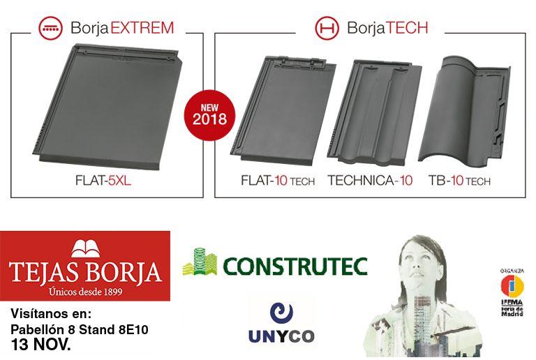 Tejas Borja presente en Construtec 2018